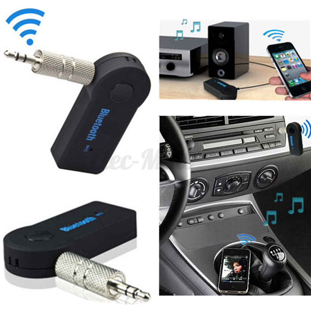 wireless bluetooth aux audio stereo music home car. Black Bedroom Furniture Sets. Home Design Ideas
