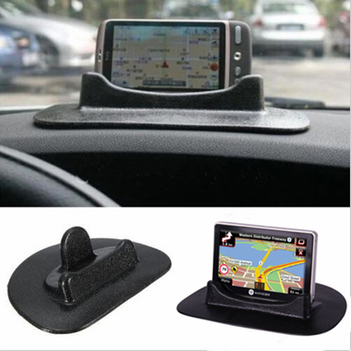 Car universal dashboard anti slip pad holder mount for mobile phone tablet gps ebay - Notepad holder for car ...