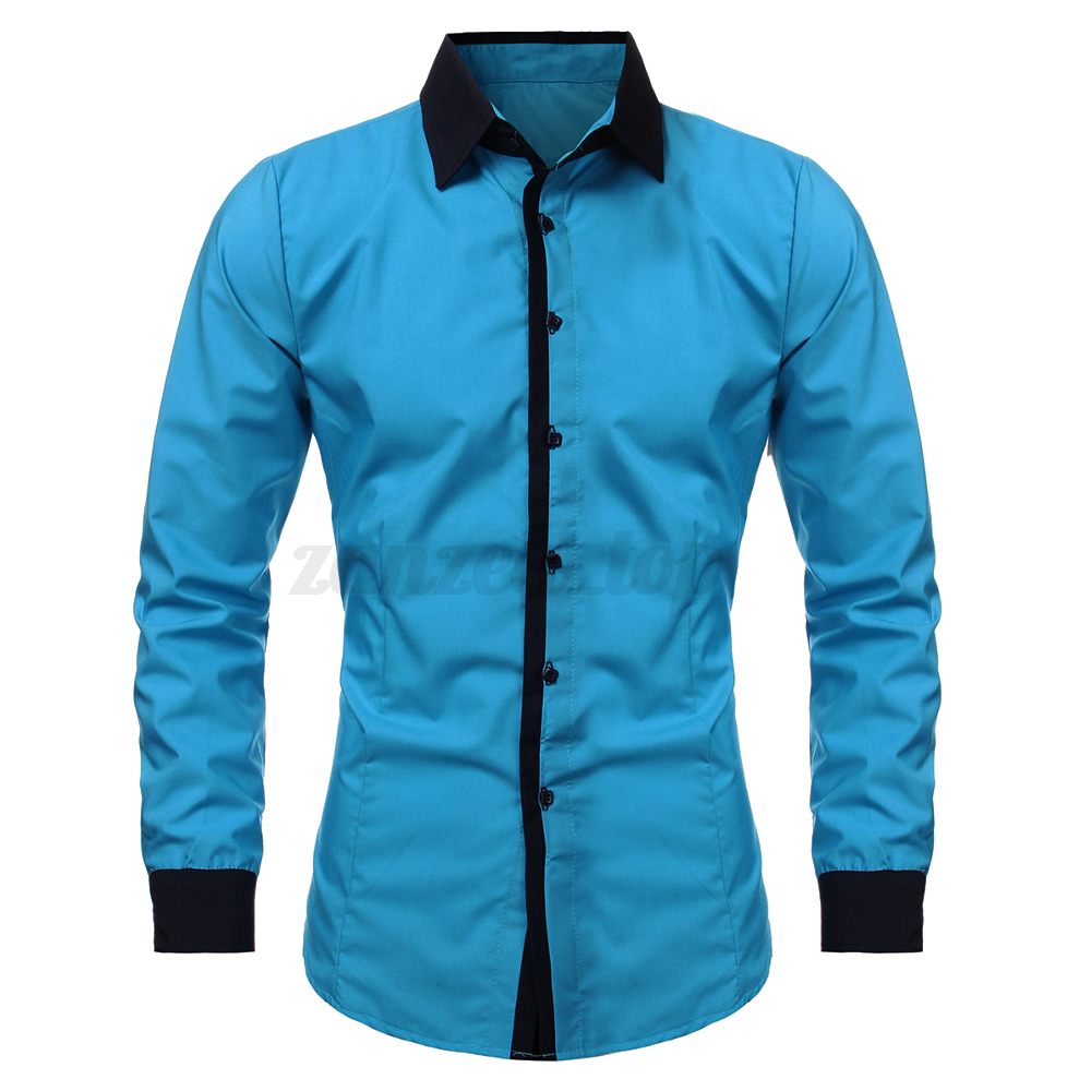 Stylish Mens Luxury Casual Dress Slim Fit T Shirts Casual