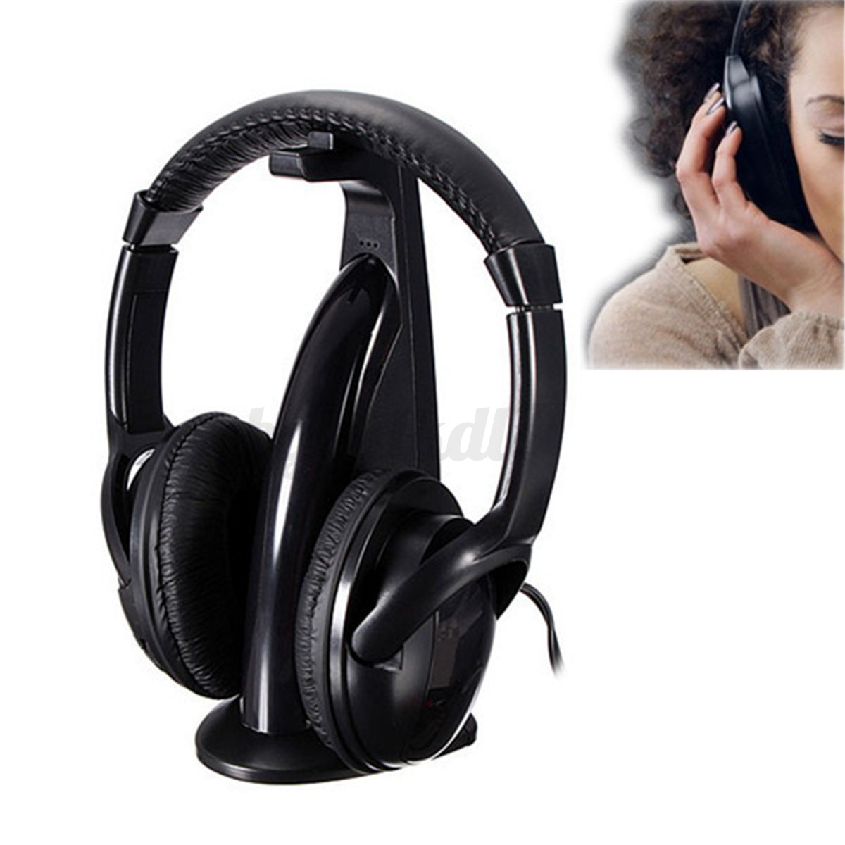 Cascos Auriculares Inalambricos Con Radio Fm 5 En 1 Para