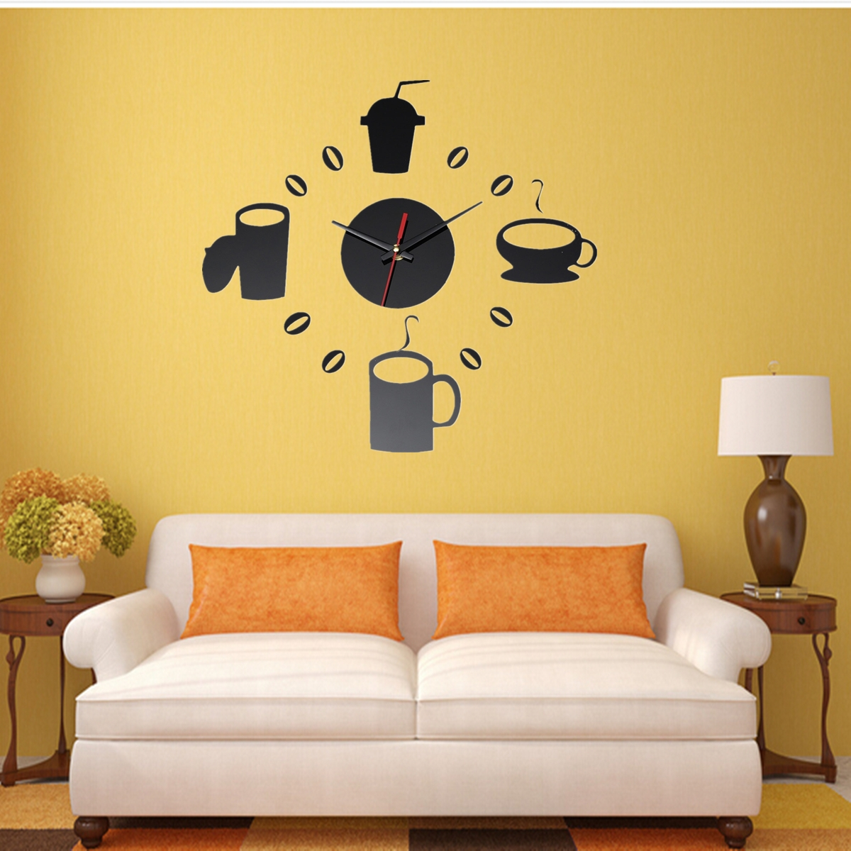 10 style trendy diy 3d horloge murale moderne pendule for Decoration salon maison