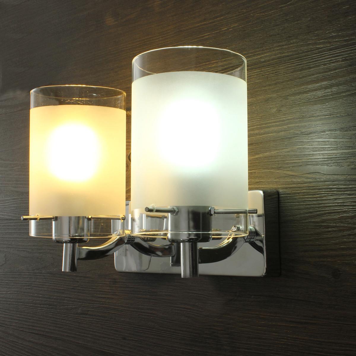 Lampada Faretto Singolo/Doppia Luce LED Applique Parete Muro Luce ...
