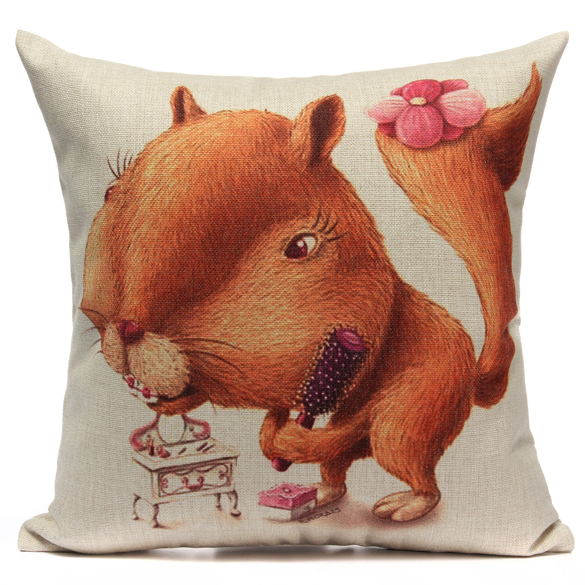Zoo Animal Pillows : Lovely ZOO Animal Linen Cotton Cushion Cover Throw Pillow Case Home Sofa Decor eBay