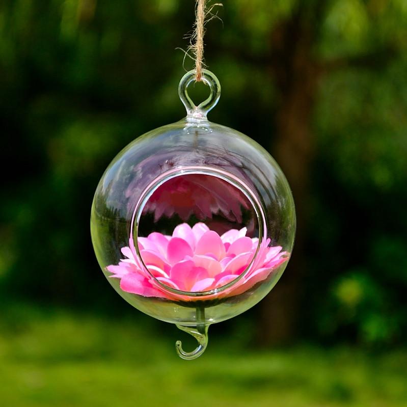 suspendu hanging verre vase plante fleur terrarium recipient mariage jardin deco. Black Bedroom Furniture Sets. Home Design Ideas