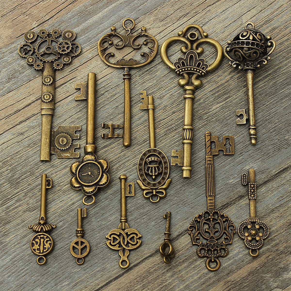 steampunk schl ssel mix halskette kette anh nger schmuck deko diy retro 9 typ ebay. Black Bedroom Furniture Sets. Home Design Ideas