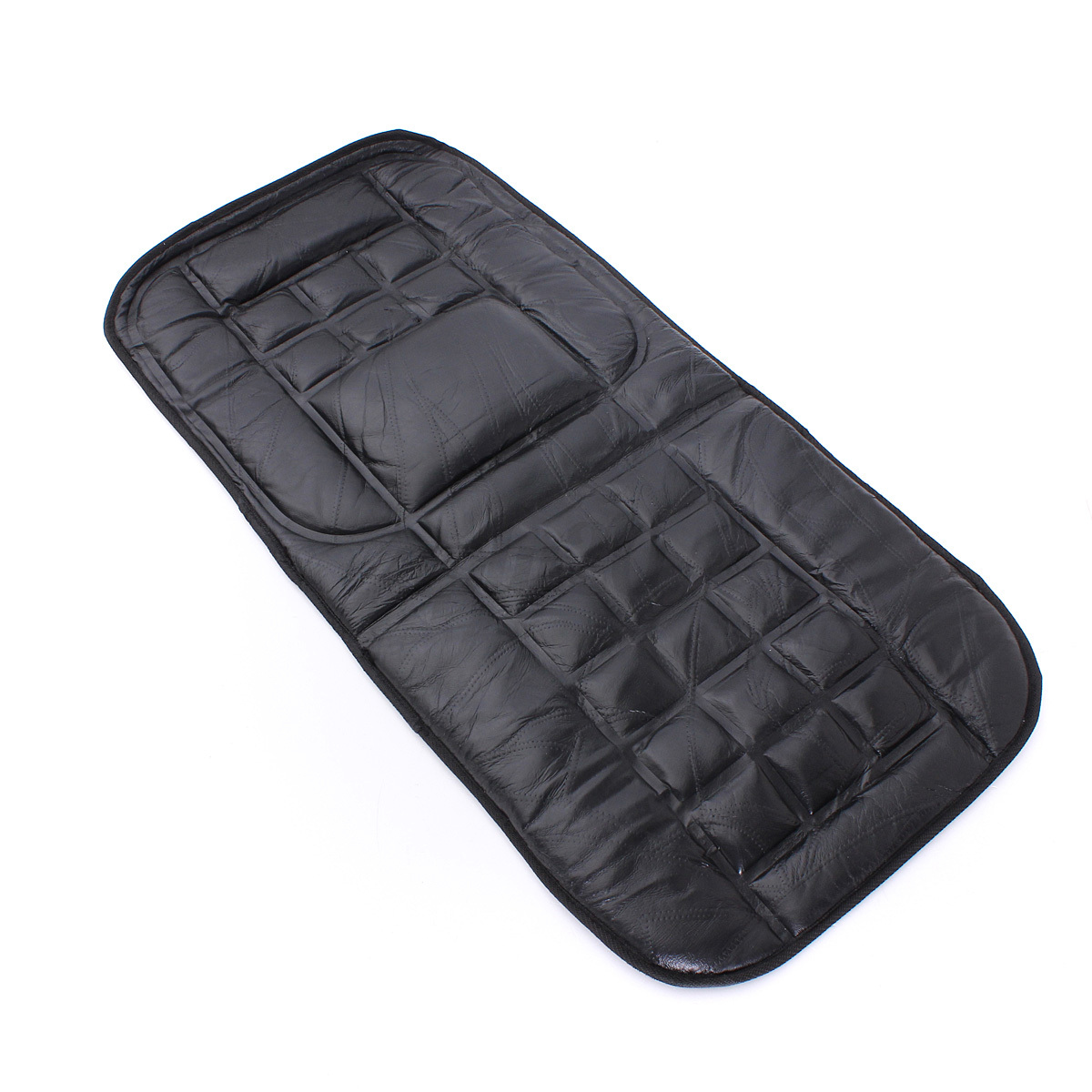 leather back support seat cover cushion chair massage car truck taxi protect us ebay. Black Bedroom Furniture Sets. Home Design Ideas