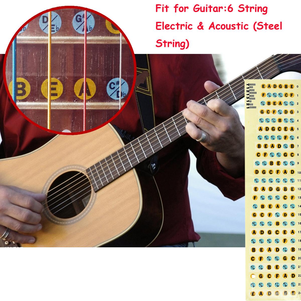 Image is loading Bass-Guitar-Neck-Fretboard-Note-Map-Fret-Sticker-