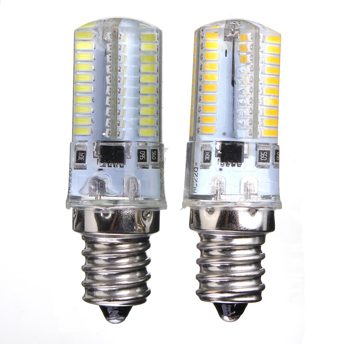 Ampoule G4 G9 E12 E14 E17 BA15D Dimmable 80 LED 3014 SMD Silicone Bulb Lampe NEW