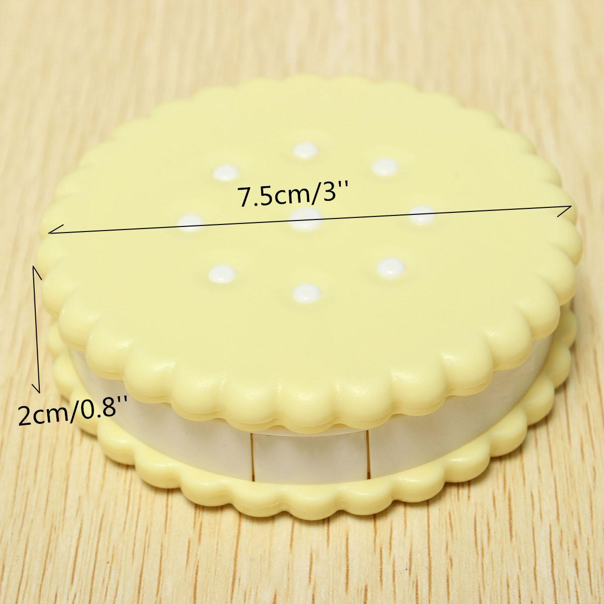 etui boite coffret rangement pour lentilles de contact motif biscuit lens case ebay. Black Bedroom Furniture Sets. Home Design Ideas