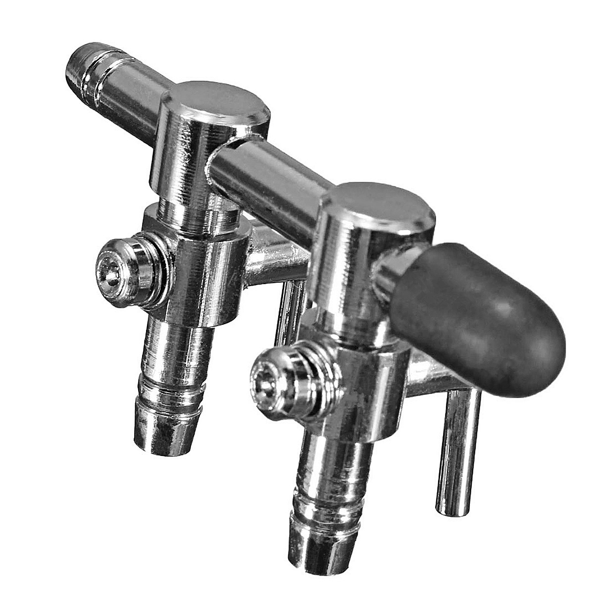 New Aquarium Tank Air Pump Air Flow Tube Pipe Line Stainless Steel Control Valve