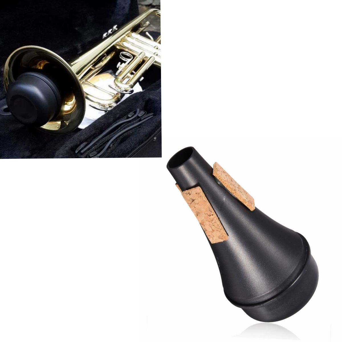 trumpet straight practice cup mute lightweight professional instrument part ebay. Black Bedroom Furniture Sets. Home Design Ideas