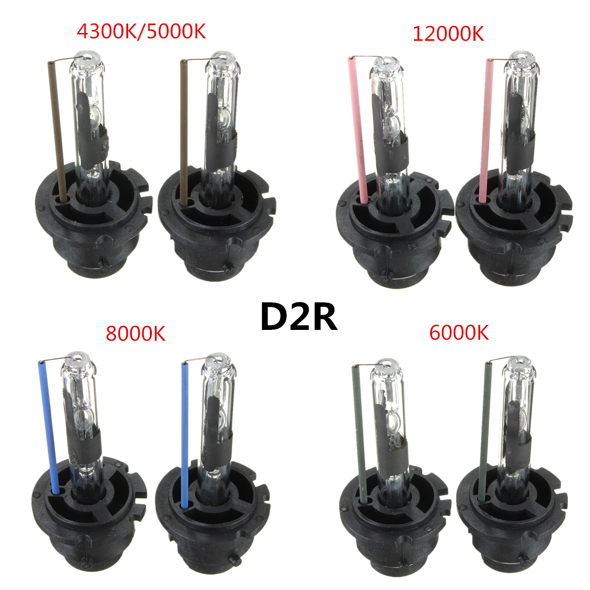 2pcs 35w Hid Xenon Headlight White Light Lamp Bulbs D1r