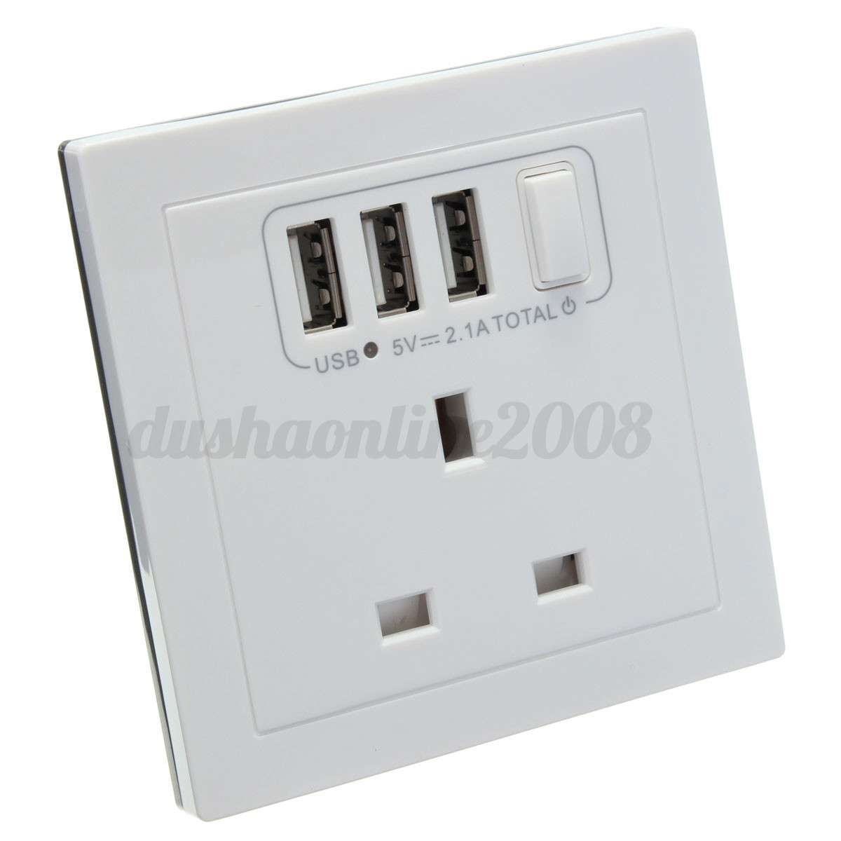 Wall Plug Light Switch : UK Universal Plug USB Outlet Wall Electrical Light Switch Socket F TV Faceplate eBay