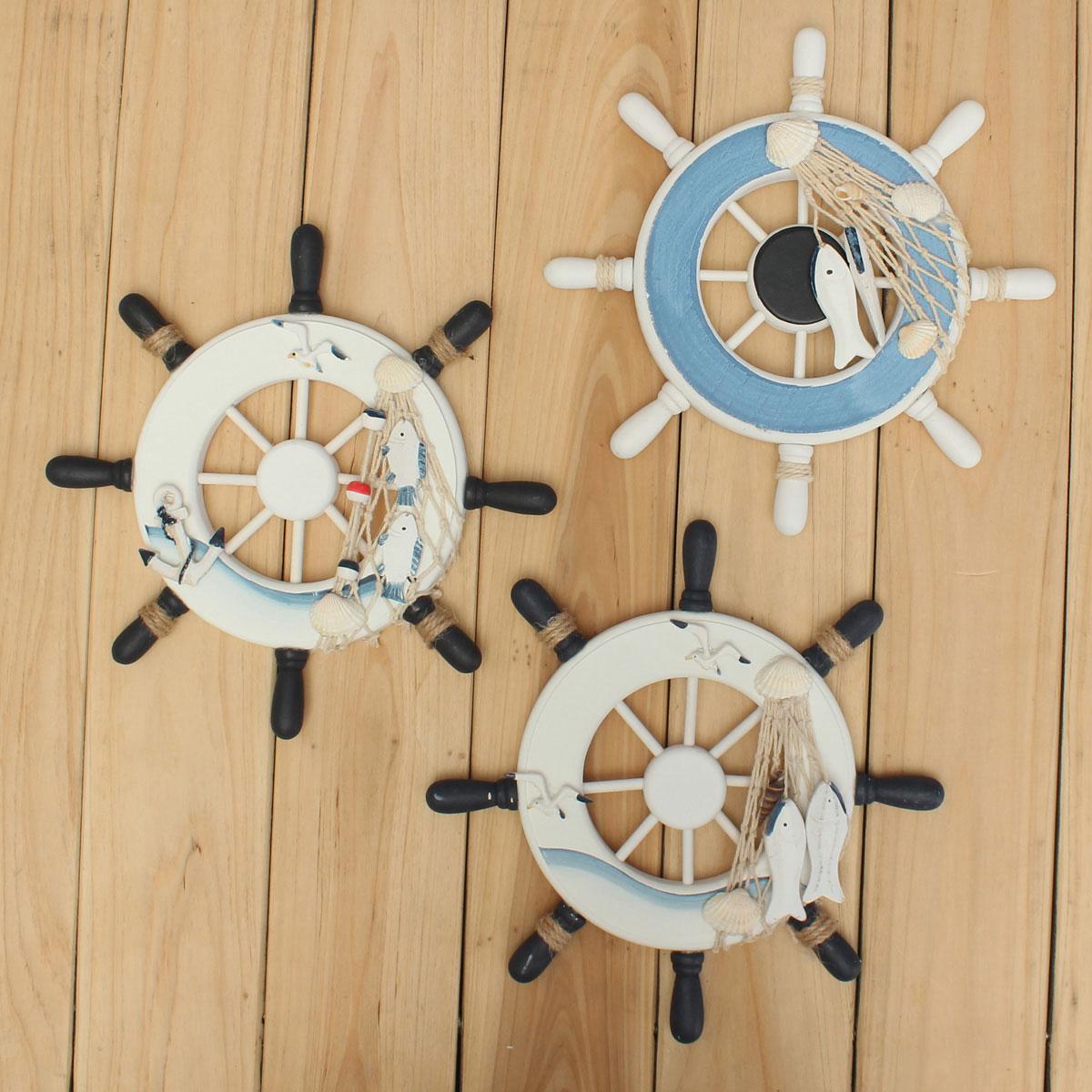 Maritim dekor dampfer steuerrad lenkrad holz 23x1.6x23cm maritime ...