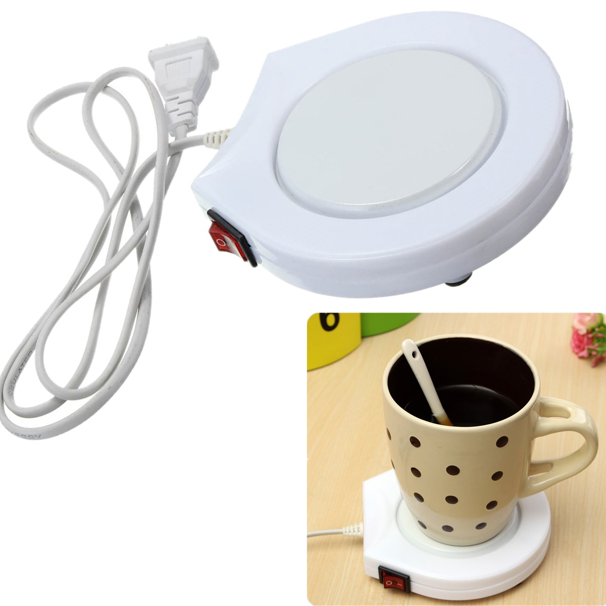 Electric Cup Warmer ~ Electric cup warmer plate pad for home office coffee tea