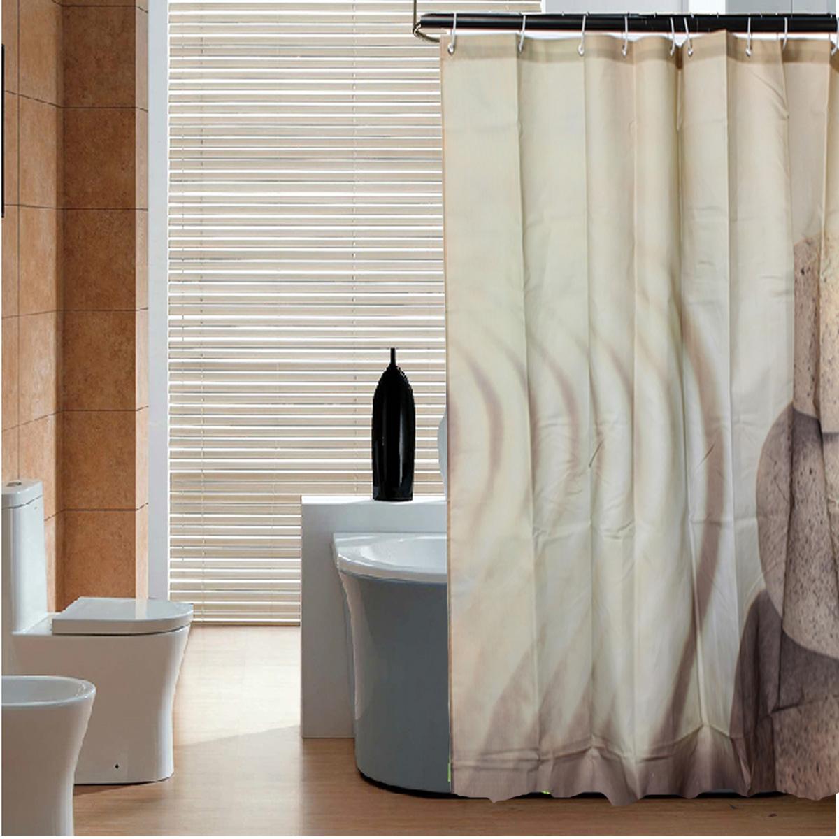 Shower Curtain With 12 Ring Hook Modern Designer Bathroom Shower Curtains 2 Size Ebay