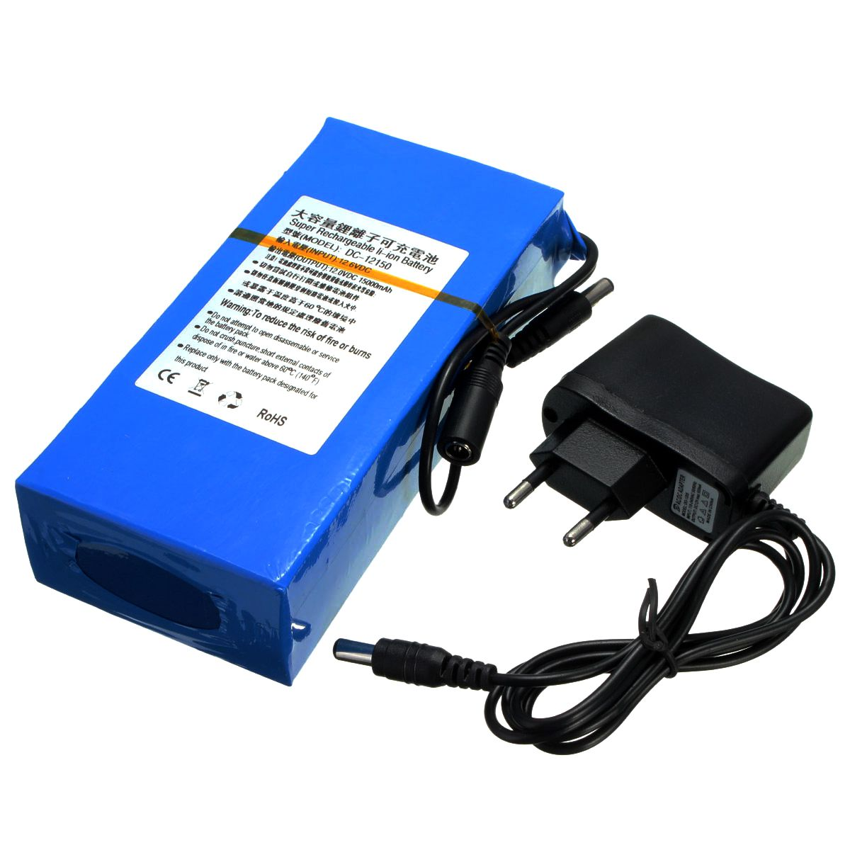 Lithium Ion Battery Pack DC 12V 15000mAh...