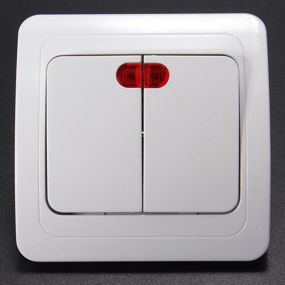blanc led mural plaque interrupteur mur lampe switch panel contr leur pr maison ebay. Black Bedroom Furniture Sets. Home Design Ideas