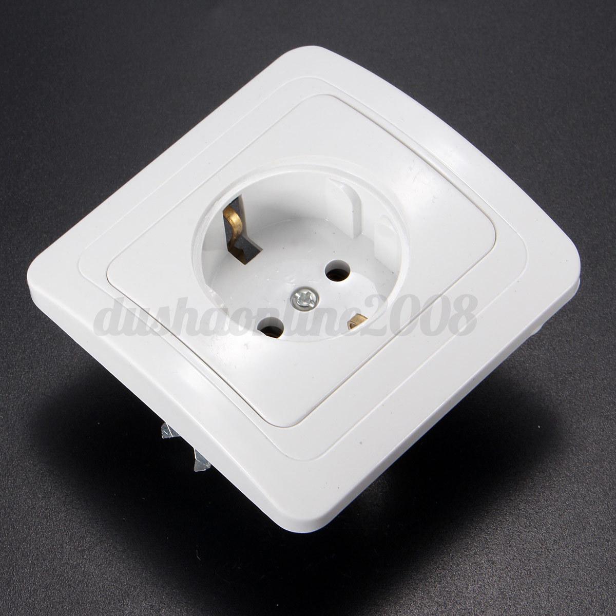 UK Universal Plug USB Outlet Wall Electrical Light Switch Socket F TV Faceplate eBay