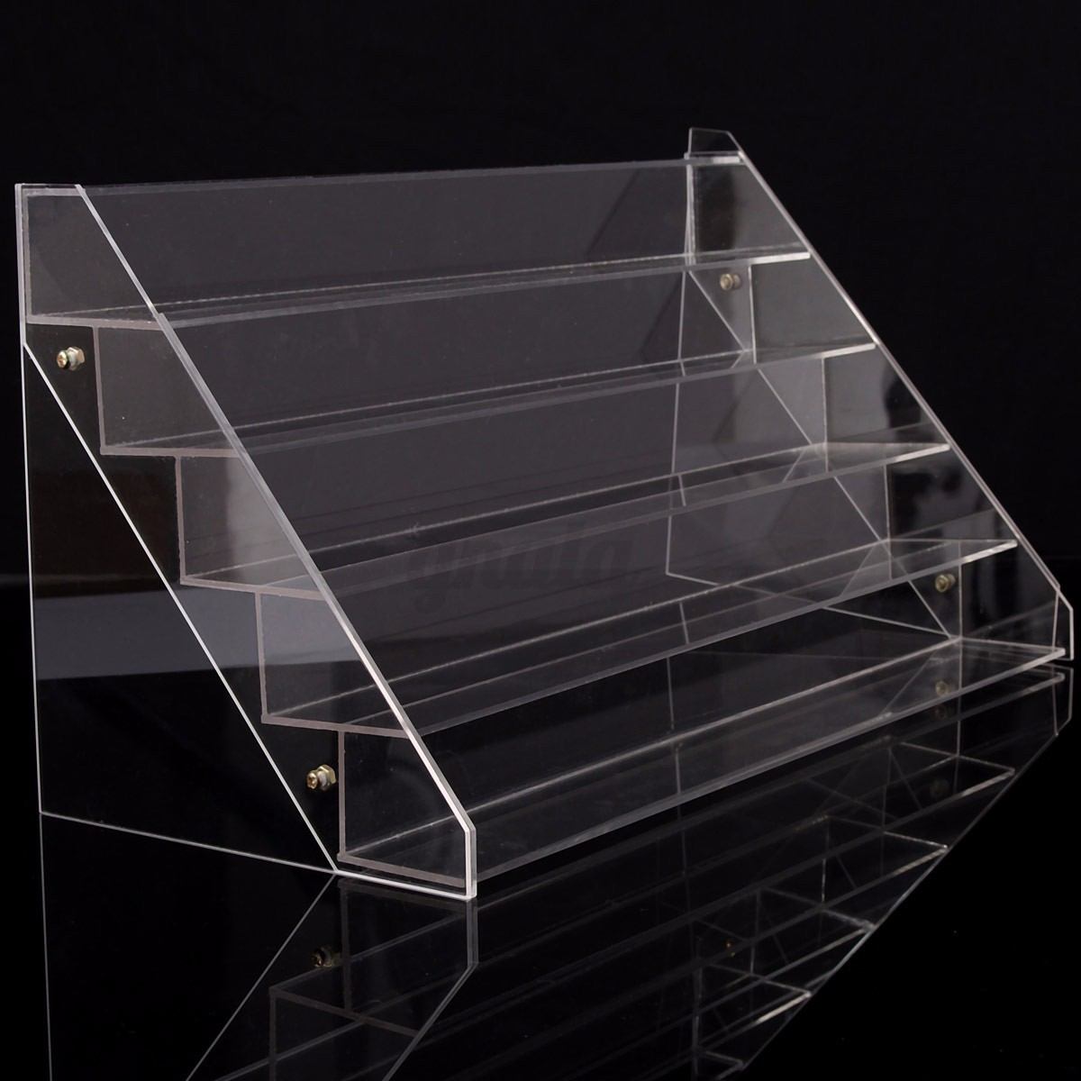 Exhibition Stand Organisers : Acrylic clear makeup nail polish storage organizer rack