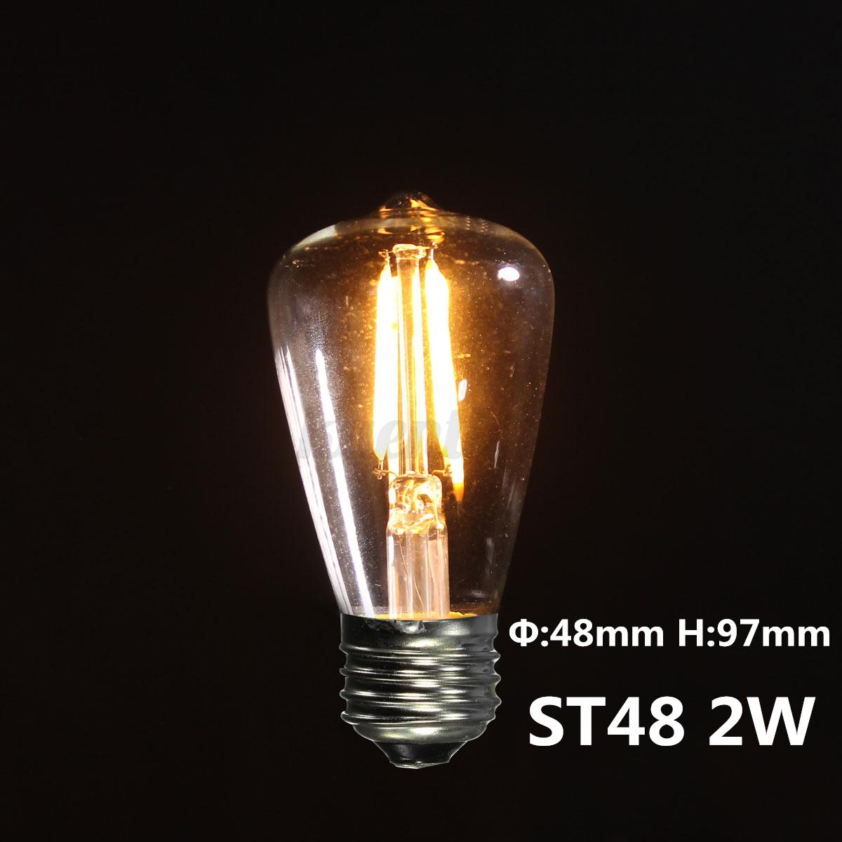 e27 edison vintage led lampe gl hbirne filament retro cob licht bulb nostalgie ebay. Black Bedroom Furniture Sets. Home Design Ideas