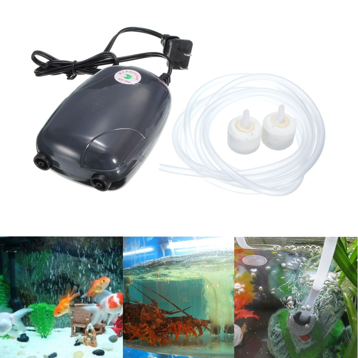 220v aquarium fish tank oxygen air pump hydroponics 2 air for Air pump for fish tank