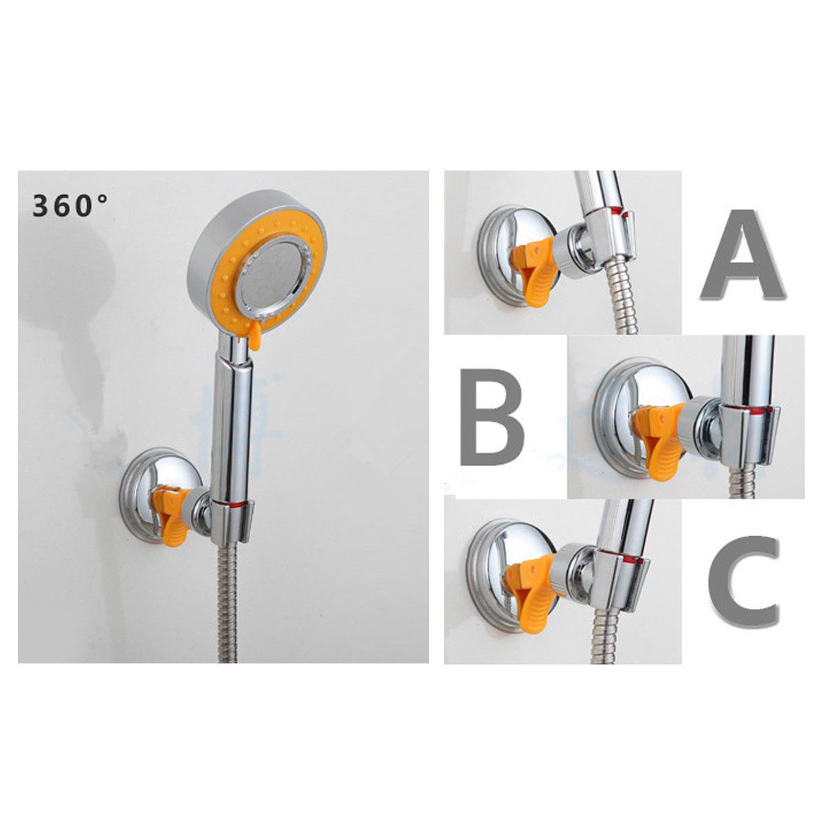 duschkopf schieber gleiter handbrause duschstange halter halterung mit saugnapf ebay. Black Bedroom Furniture Sets. Home Design Ideas