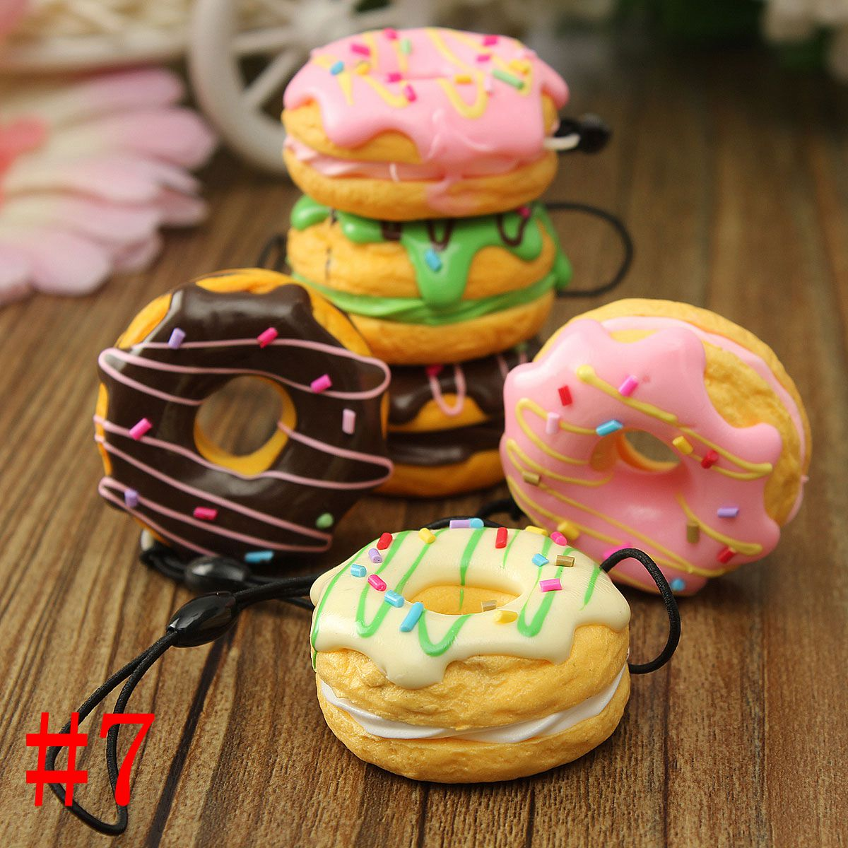 13-Style Soft Cute Squishy Bread Kawaii Keychain Bag Phone Charm Strap Pendant