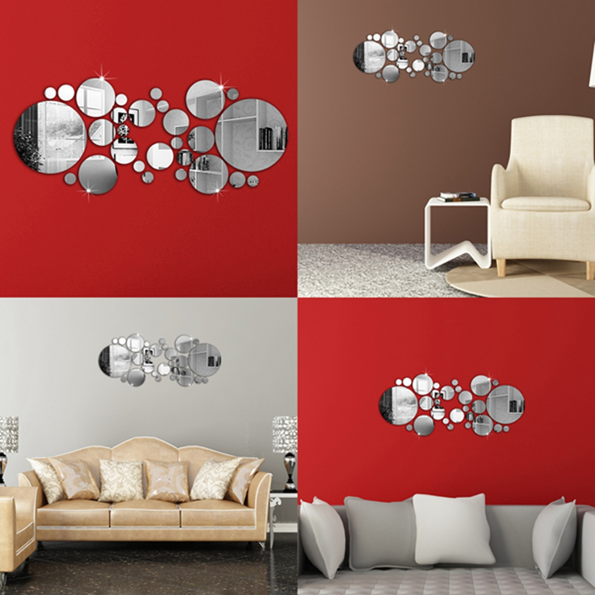 art wall stickers shenra com modern 3d mirror acrylic home room office diy decor art wall