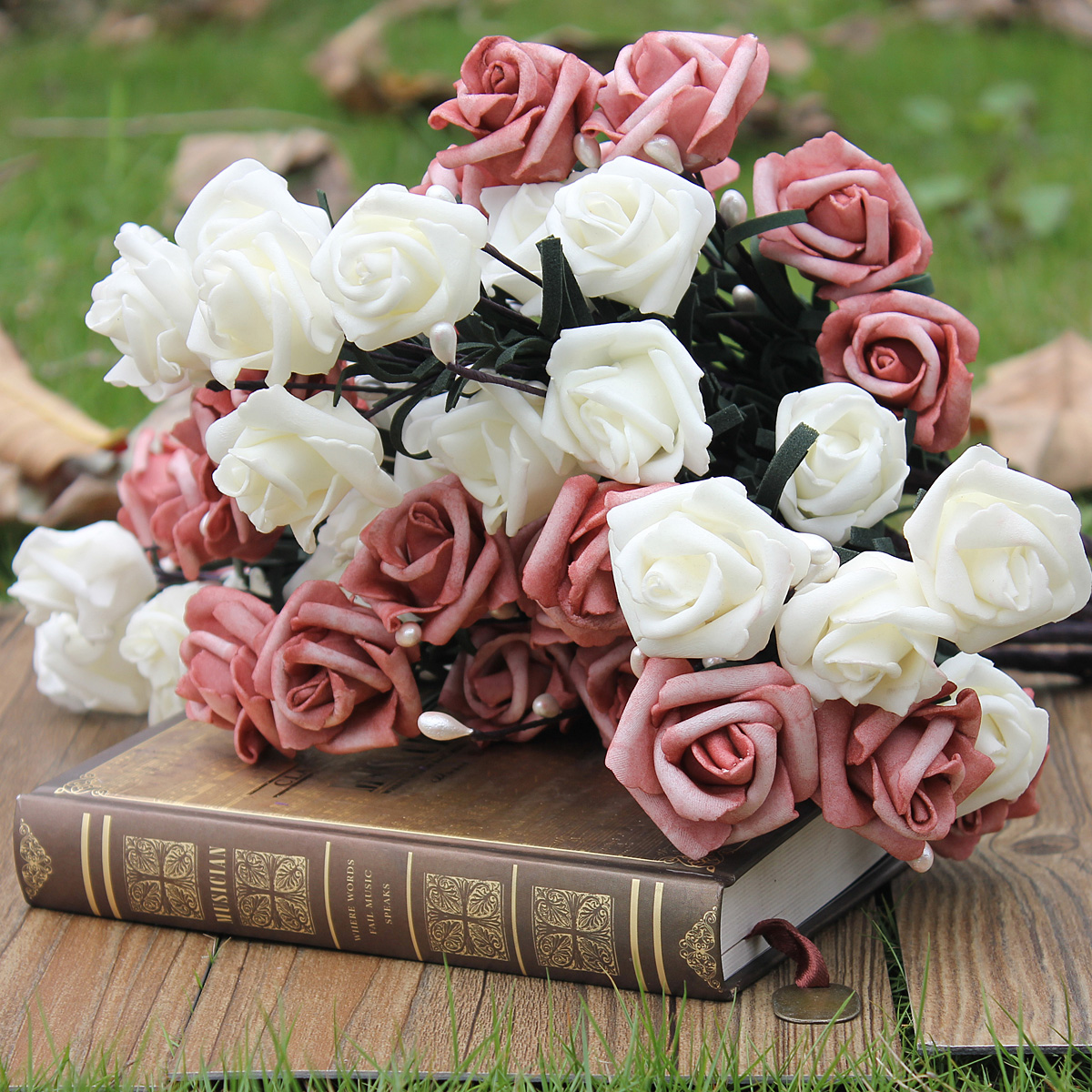 Bouquet de fleurs artificielle hortensia soie d coration for Decoration maison rose