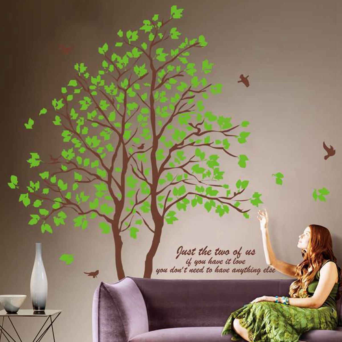 Sticker mural papier peint amovible chat souris mignon for Autocollant mural arbre