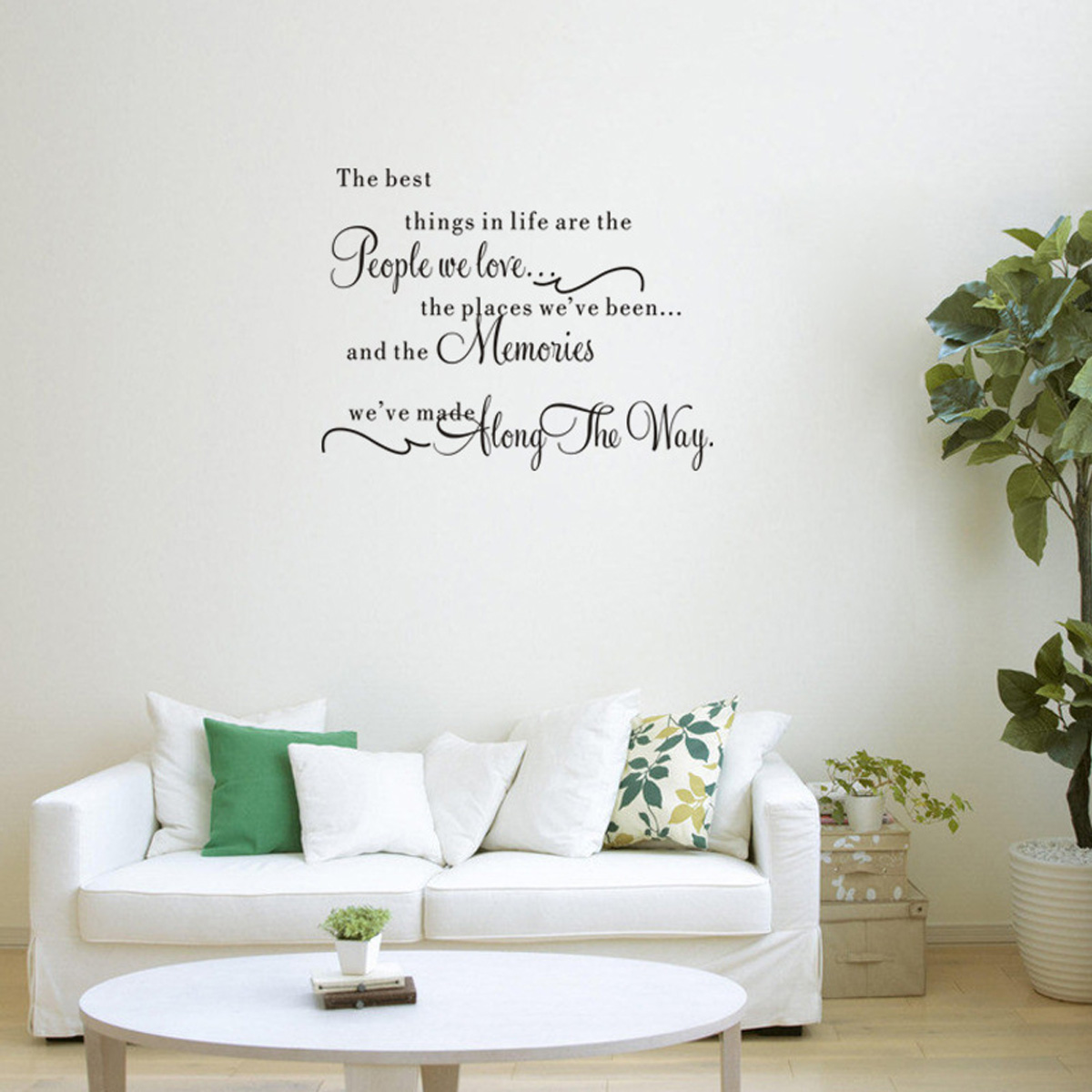 Sticker mural lettre mural d co murale autocollant pr - Diy deco salon ...