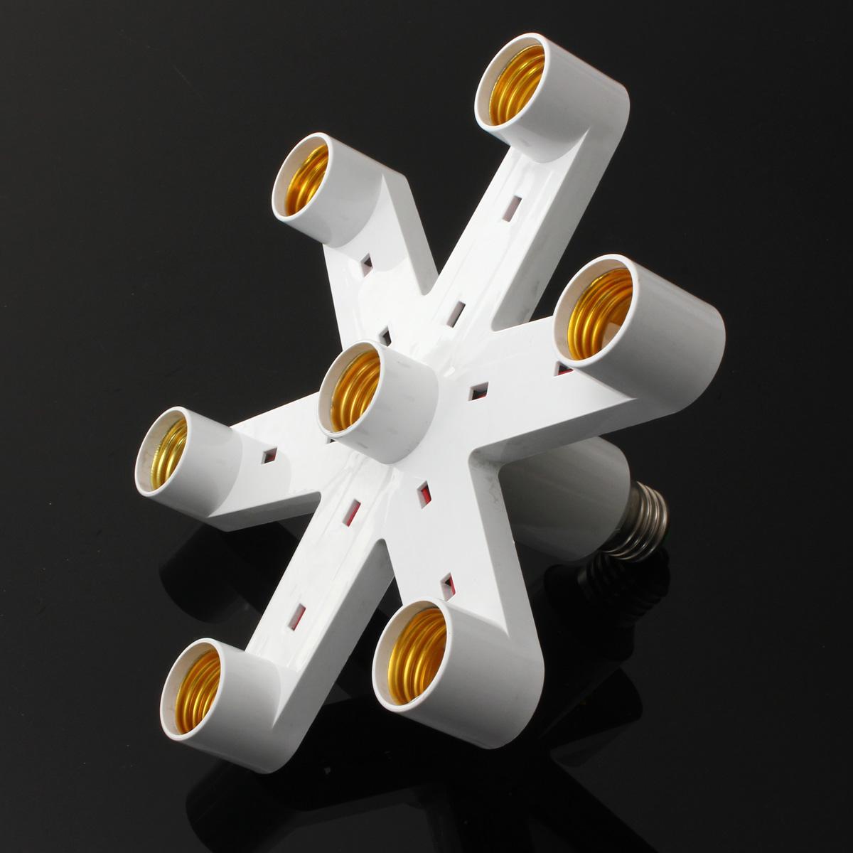 1 to 3/7 LED Lamp Light Bulb Base Socket Splitter Holder Converter Energy Saving