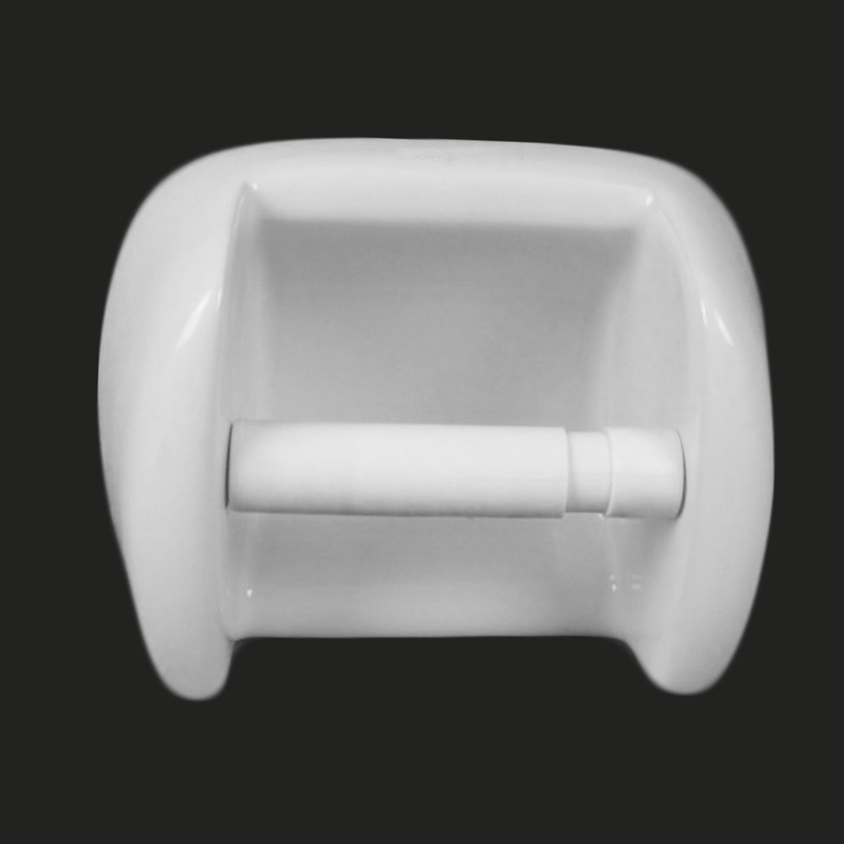 Replacement white paper roll holder roller spindle spring - Toilet paper holder spindle ...