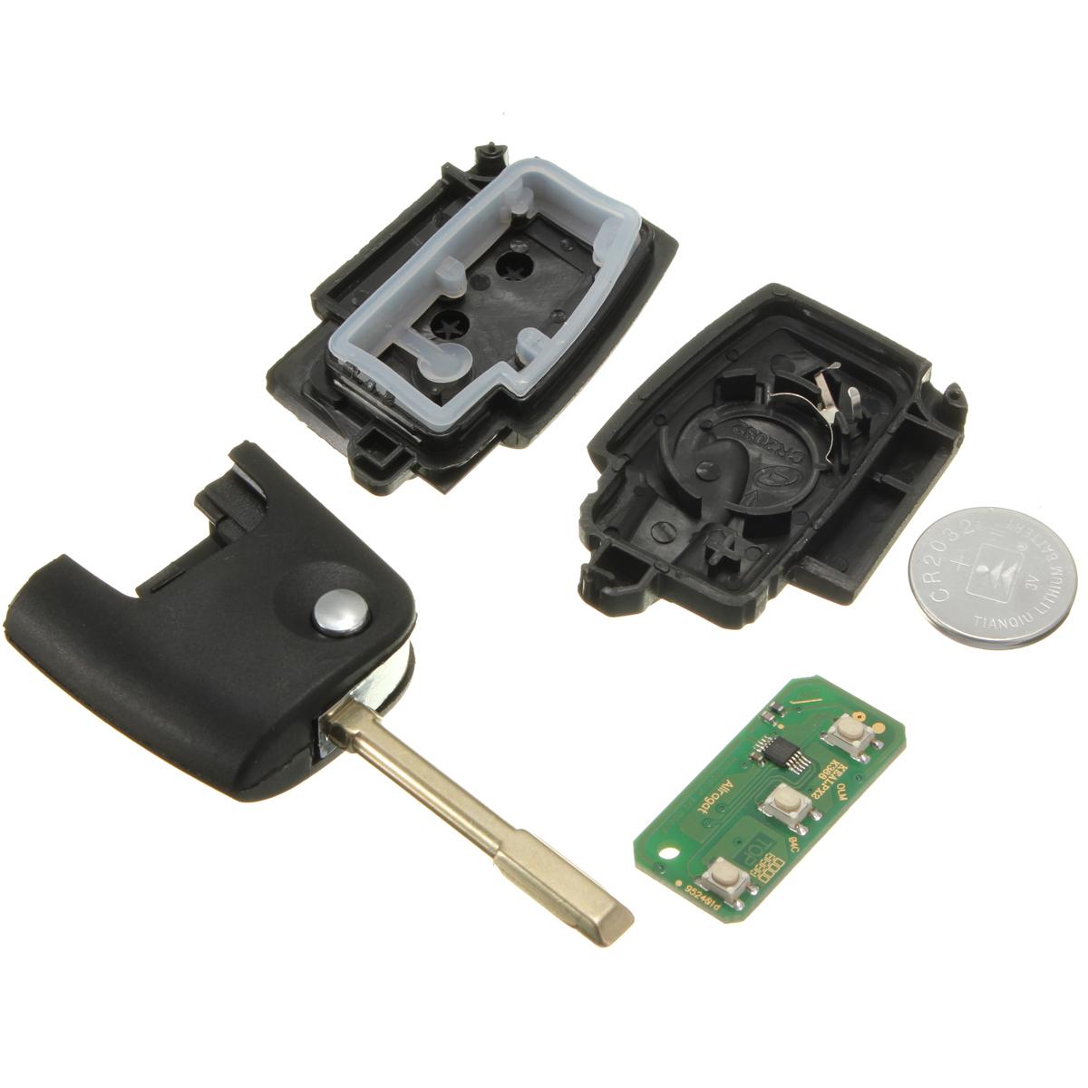433mhz klappschl ssel schl ssel mit chip batterie f r ford focus mondeo transit ebay. Black Bedroom Furniture Sets. Home Design Ideas