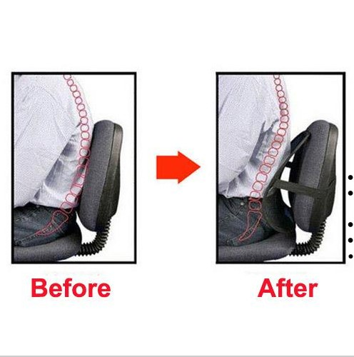 back lumbar support pain relief massage car office chair seat posture
