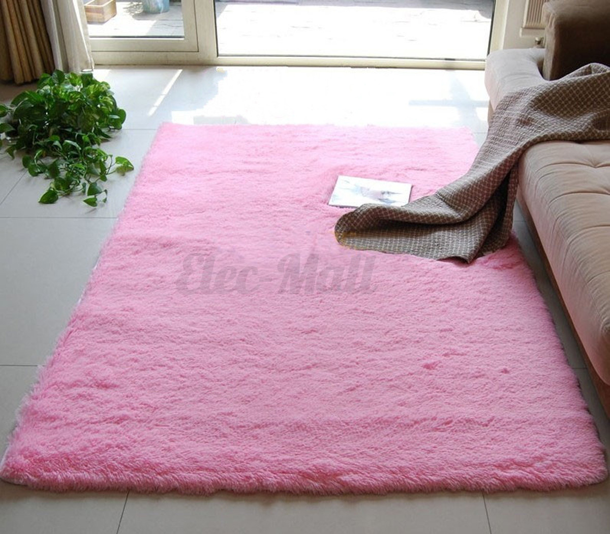 how to clean a fluffy rug at home