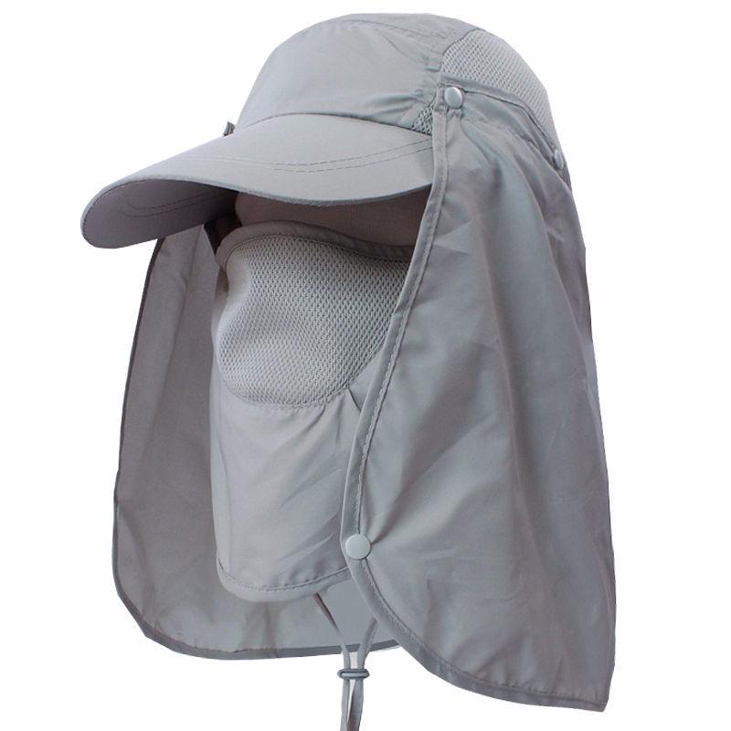 Unisex Outdoor Sport Fishing Hiking Hat UV Protection Face Neck Flap Man  Sun Cap 4cb79a5caea