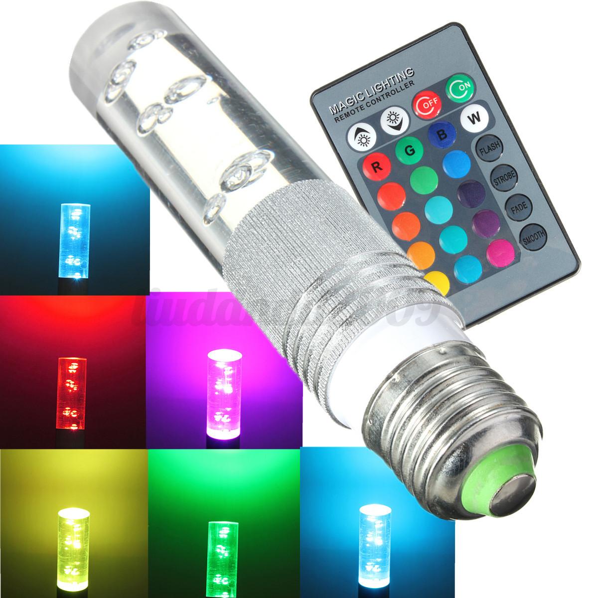 3w e27 led rgb strahler beleuchtung leuchte hause lampe 16 farbe fernbedienung ebay. Black Bedroom Furniture Sets. Home Design Ideas
