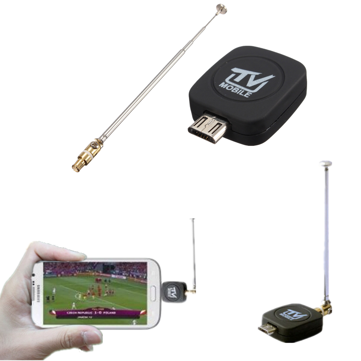 mini micro usb dvb t digital mobile tv tuner receiver for android 4 1 above new ebay. Black Bedroom Furniture Sets. Home Design Ideas