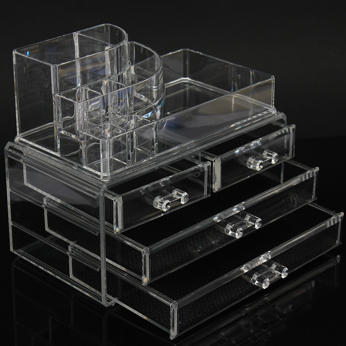 Organizer Acrylic Makeup Brush Drawers Cosmetic Holder