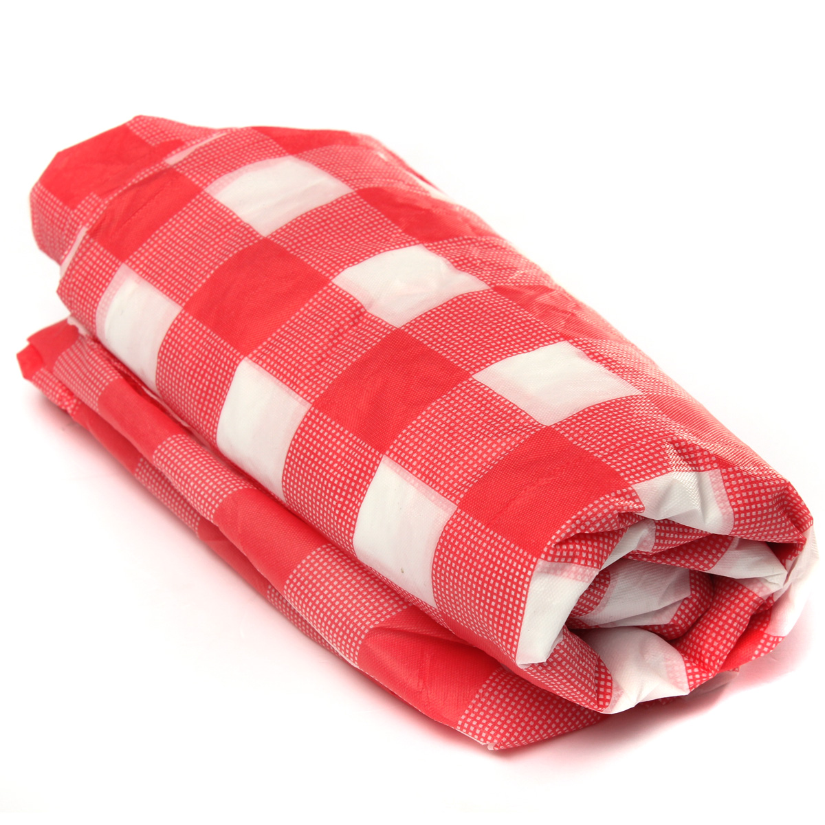 Red Gingham Plastic Temporary Disposable Check Table Cover