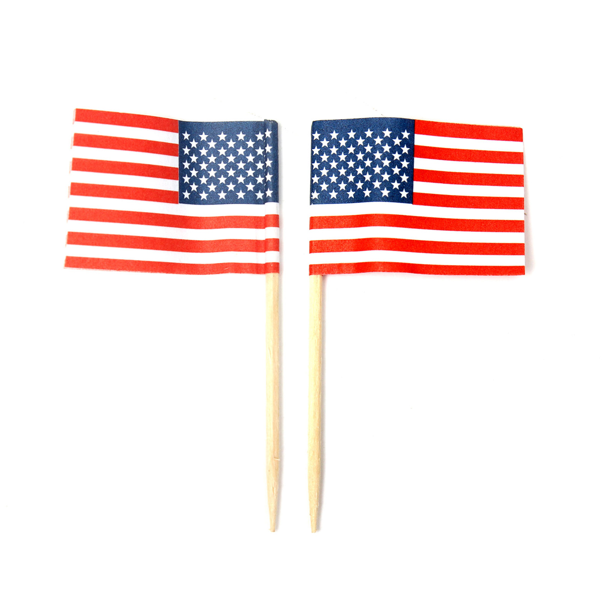 50x american usa flag food cake decoration cupcake for American flag decoration