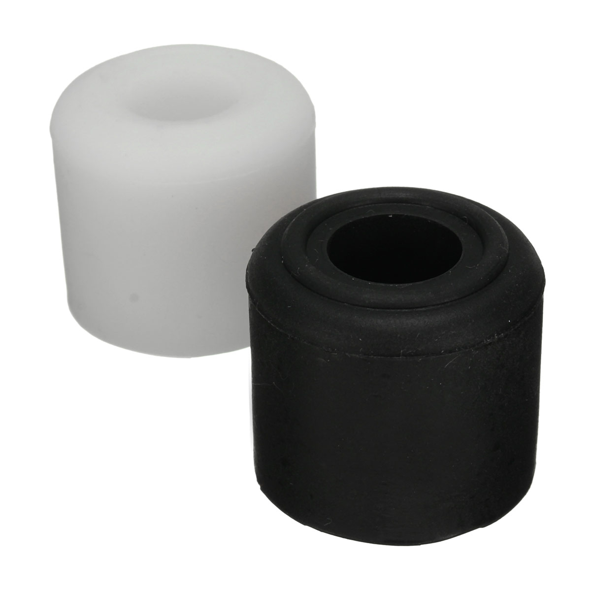28mm rubber door stop stopper cylinder jam wedge door floor holder black white - Door stoppers rubber ...