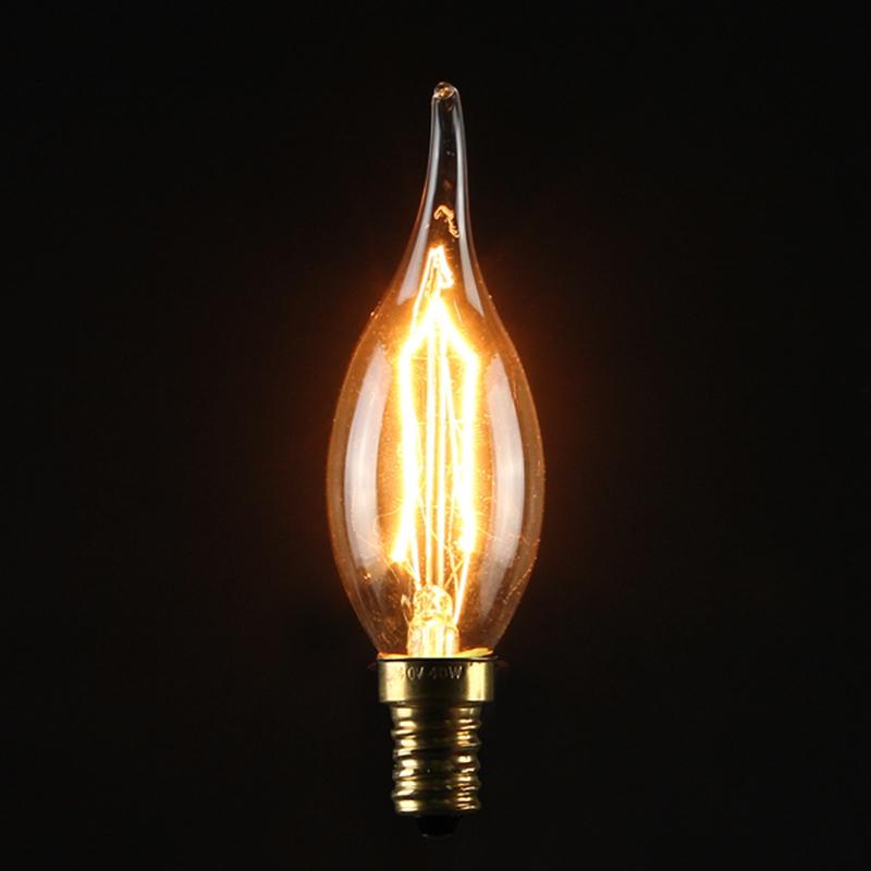 LAMPADINA LED EDISON VINTAGE E27/E14S 3/5/40W LUCE CALDA ATTACCO BULB FILAMEN...