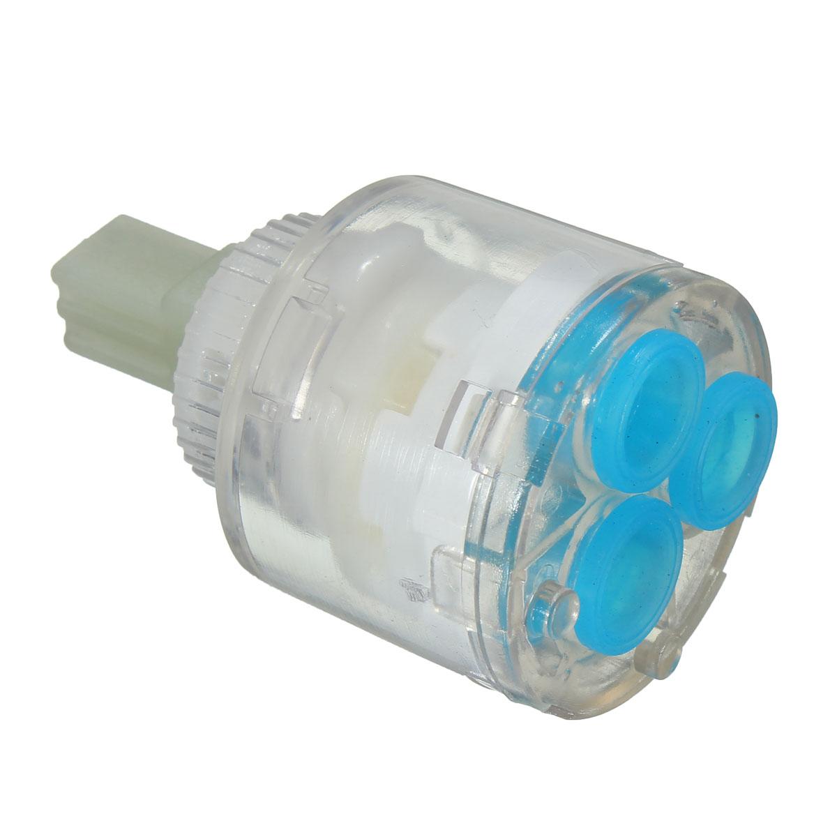 35mm Kitchen Bathroom Water Mixer Tap Faucet Ceramic Cartridge Valve Clear Blue Ebay