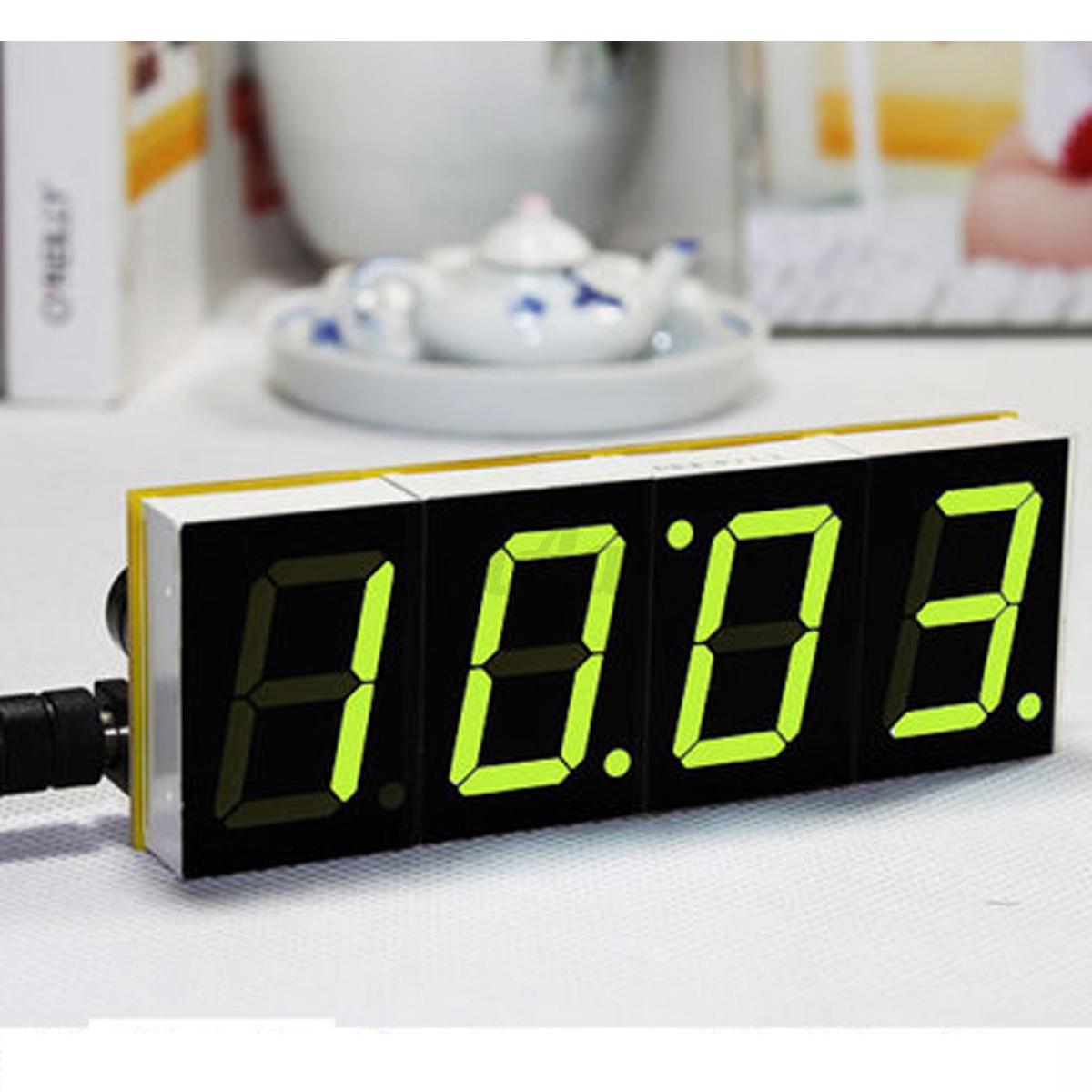 diy digital led electronic microcontroller clock kit large screen display time ebay. Black Bedroom Furniture Sets. Home Design Ideas