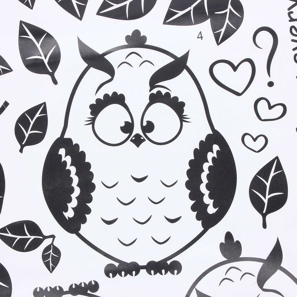 owl birds branch removable vinyl kids baby home decor mural wall stickers decal ebay. Black Bedroom Furniture Sets. Home Design Ideas