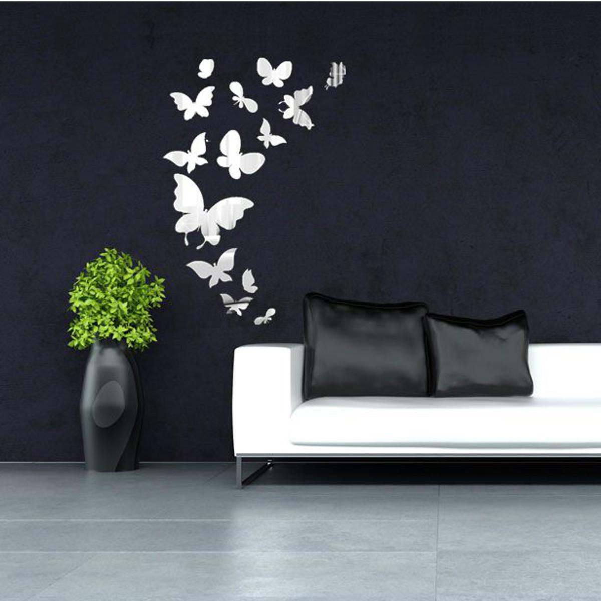 DIY 3D Mirror Fairy Star Butterfly Acrylic Removable Home ...