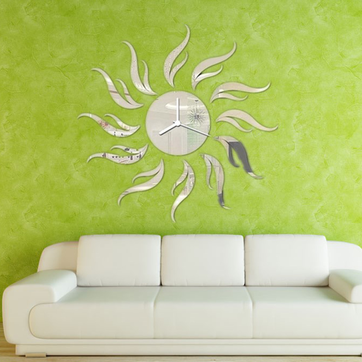 Modern Diy Frameless Acrylic Mirror Wall Clocks Sticker
